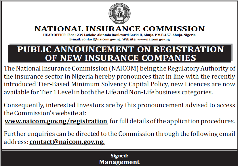 NAICOM ADVERT